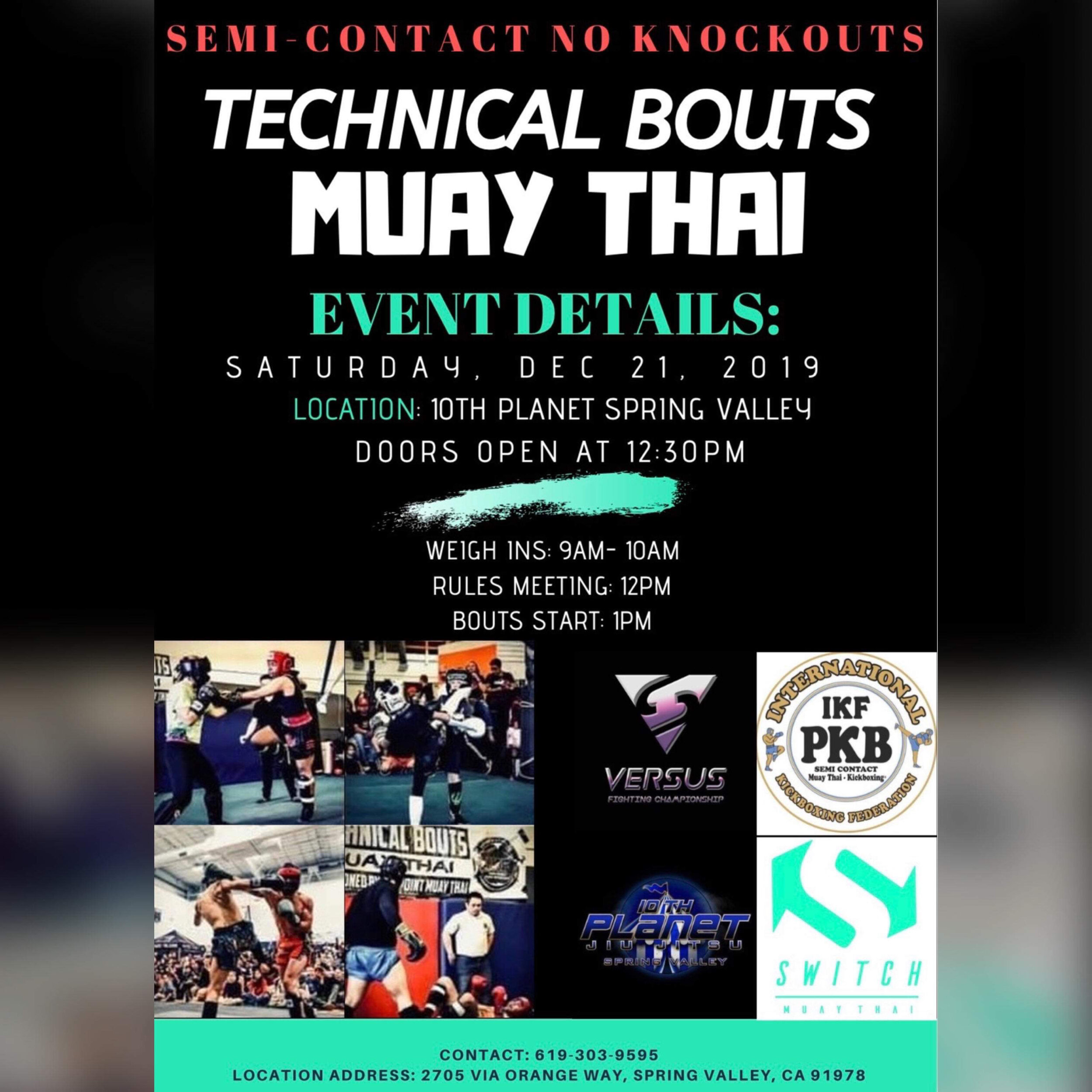 Muay Thai Technical Bouts
